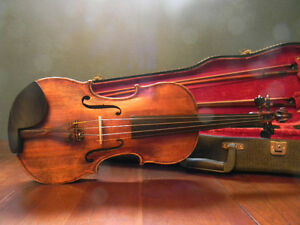 A vintage Guarneri violin with an amazing carved scroll pattern Kitchener / Waterloo Kitchener Area image 4