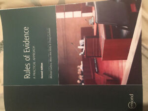 Rules of Evidence 2nd edition. Michael Gulycz, MaryKelly, Doug C