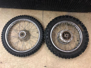 HONDA CRF80/XR80 SET OF USED RIMS