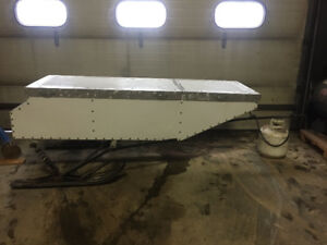 Ice Fishing  Snowmobile Trailer