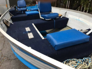 16FT Aluminum boat with trailer