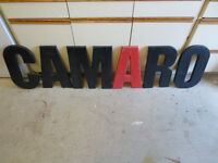 Camaro Sign Letters