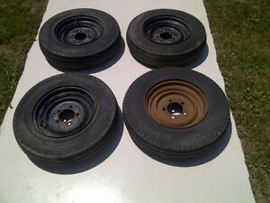 5.30 - 12 Tires with Rims