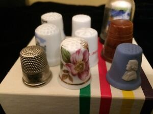 Vintage thimbles Wedge wood lot of 12