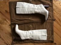 Gucci White (off-White) Leather Boots 4UK