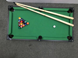 BLACK ASH WOODEN POOL/BILLIARD TABLE FOR KIDS