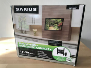 "Sanus TV wall mount for 13"" to 39"" TVs up to 50lbs. NEW!"