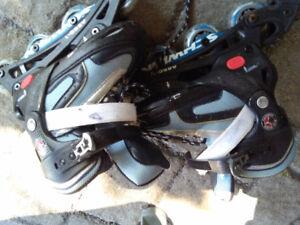 Patins a roues alignées ajustable grandeur de 2 a 4 enfant