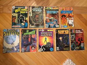 Mystery / Sci-Fi / Horror (vintage 70's) - 9 comics for only $20
