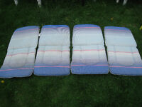 4 small Patio Chair 2-side Waterproof Cushions(Plastic material)