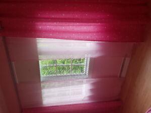 2 panneaux rideaux chambre fillette