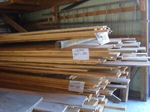 Cedar lumber and timber
