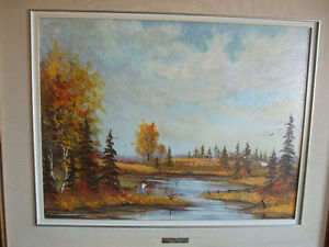 Heinz V Pundleider original oil painting, Artist is from Ottawa.