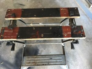 Work Mate Bench With Adjustible Vise Top, And Pins