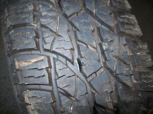Almost New tires   225 75 16 snow flake rated