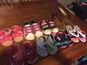 Toddler girls size 7 shoe lot