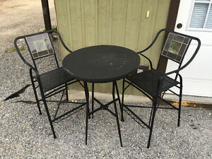Outside bar table and chairs