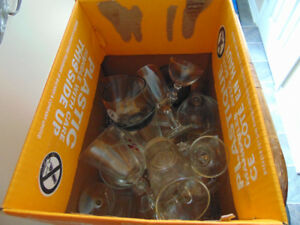 Free box of assorted glasses