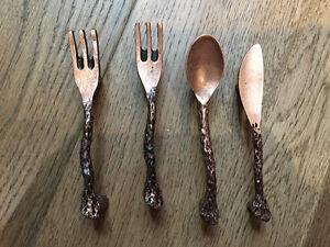 copper utensil handles