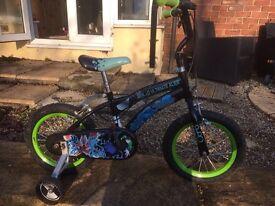 Boys ben 10 bike with stabilisers