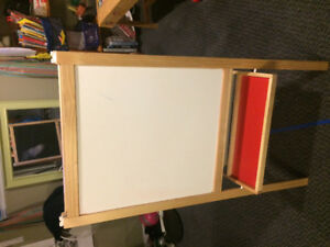 Childrens easel - white board one side, chalk board other.