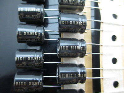 Japan 10pcs Elna Rfs Silmic Ii 100uf 16v 100mfd Audio Capacitor New Hifi 2014