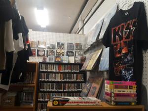 Vinyl Record LPs CDs Cassettes 8 Tracks Rock Tour Shirts