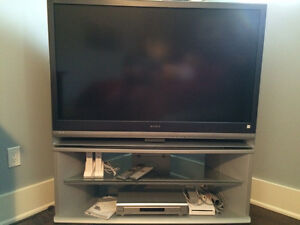 "Sony 50"" TV with stand and 5 Disc DVD/CD player."
