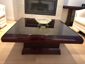 Coffee Table, Two End Tables and Sofa/Console Table - Mahogany
