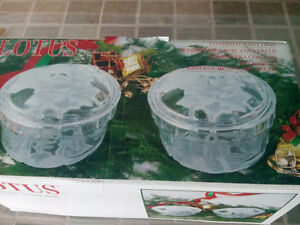 Two Set of Covered Candy Dishes