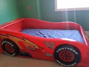 Lightning McQueen race car bed, twin size
