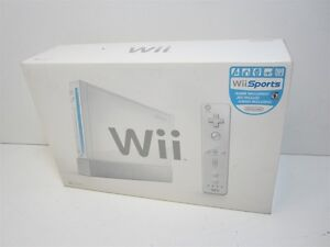 Nintendo Wii White Console With 5 Games