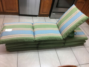 Set of 4 New Outdoor Lounge Cushions