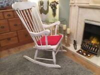 White nursing rocking chair