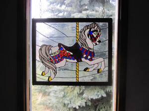 Stain glass Carousel horse