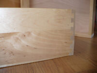 Dovetailed Maple Drawers