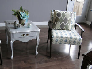 Silver wooden End tables