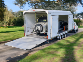 WOODFORD CAR TRAILER ENCLOSED COVERED CLASSIC VINTAGE SPORTS RACE