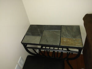 Slate coffee table and side table