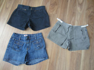 WOMEN'S SHORTS & CAPRIS - SIZE (0-2) - $5.00 EACH