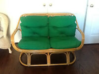 Vintage Bamboo Loveseat Available