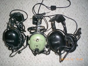David Clark and Flightcom Pilot headsets