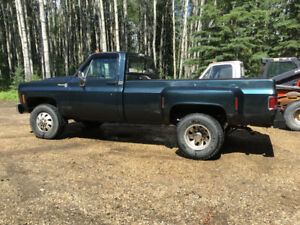 1980 Chevy 1 ton  4x4 dually and 1979 Chev 2wd dually.