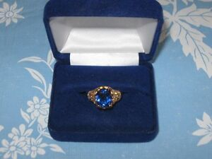 Ornate Blue Ring – size 10 - from estate for sale