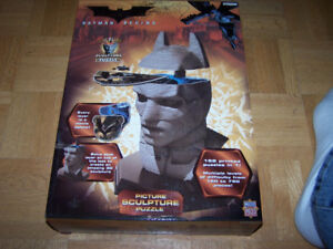 Batman 3D Picture Sculpture Puzzle Batman Begins- NEW IN BOX