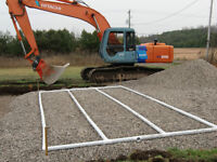 Septic systems excavating excavator