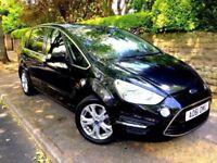**IMMACULATE** 2011 FORD S MAX TITANIUM 2.0 TDCI BLACK 5 DOOR MPV ESTATE 160 BHP