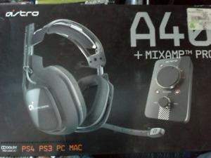 Astro a40 headset and mixamp pro video gaming equipment