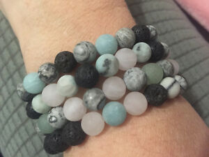 Essential oil diffusing bracelets LAVA rock