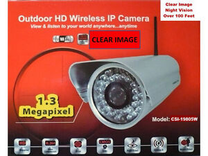 Outdoor Wireless IP Camera HD Video 720 P (CLEARANCE SALE)